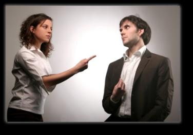 linguaggio del corpo - coppia in lite
